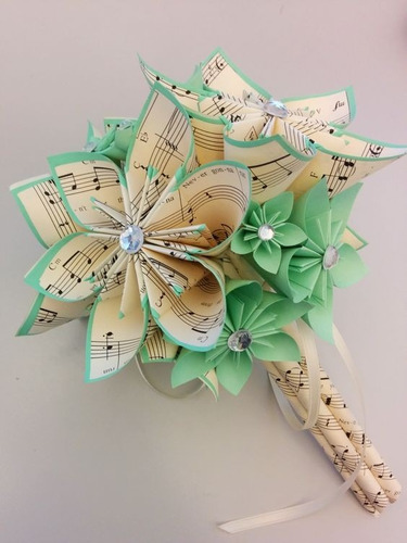 flores de origami x 6 unidades
