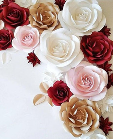 Flores De Papel Adornos Para Fiestas Decoración