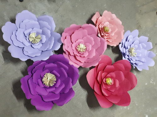 flores de papel gigantes