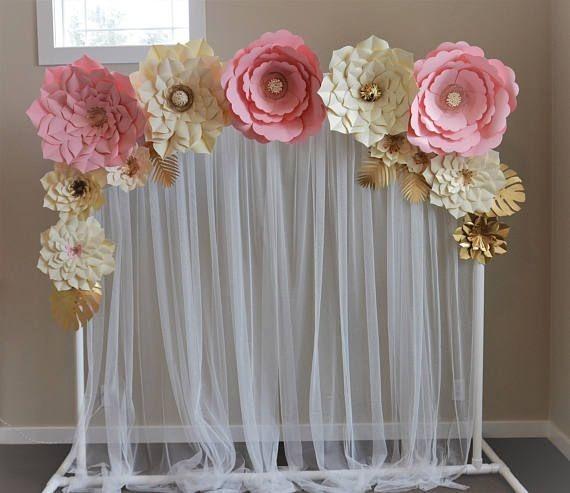 flores de papel gigantes   8 00 en mercado libre