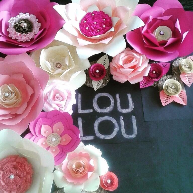 Flores de papel gigantes combos decoraciones bs 1 for Rosas de decoracion