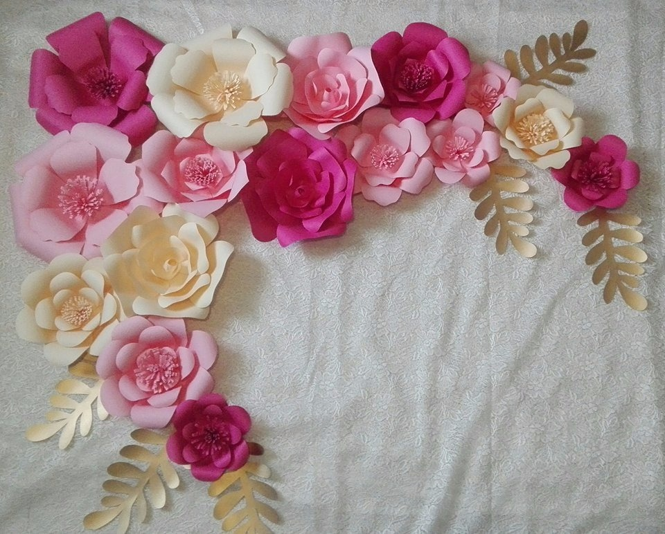 Flores de papel gigantes decorativas paquete for Rosas de papel