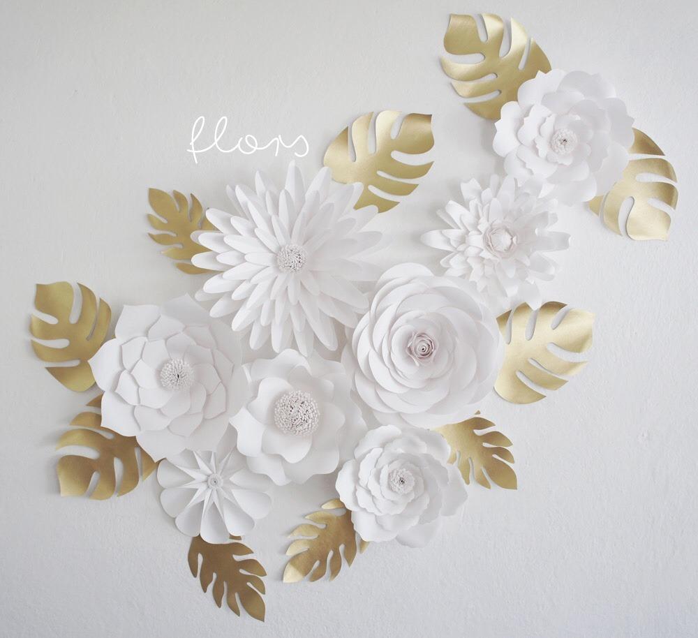 Flores de papel gigantes eventos decoraci n bodas - Decoracion de flores para bodas ...