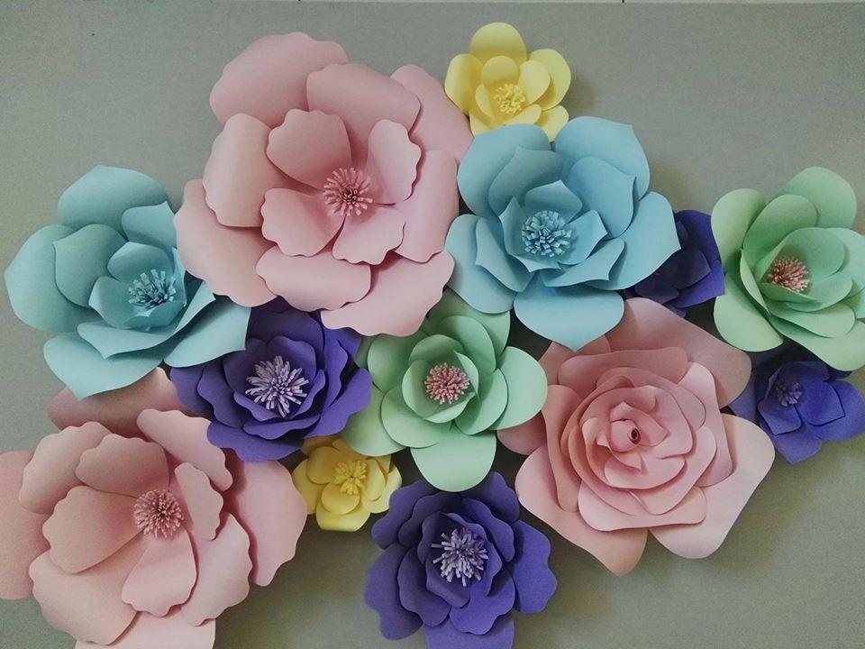 Flores De Papel Gigantes Paquete 15 899 00 En Mercado Libre