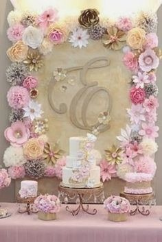 Flores De Papel Grandes, Ideal Para Decorar Candy Bar - Bs ...
