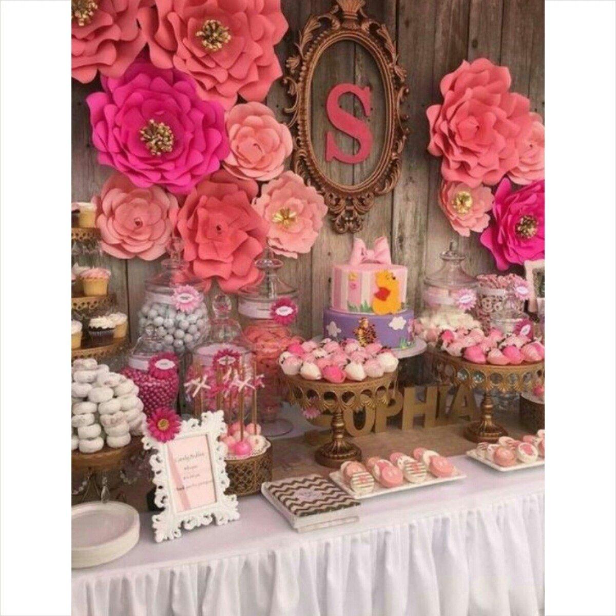 Flores de papel para fiestas bautizos vintage boda 30 cm for Rosas de decoracion