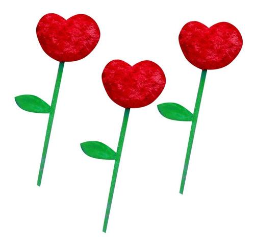 flores de peluche - 10 pzas