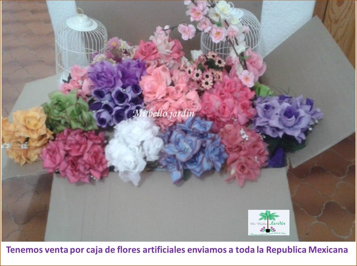 Flores de plastico y seda omm en mercado libre for Plantas decorativas de plastico