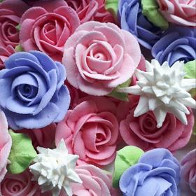 Flores De Royal Icing,  Para De Decorar Repostería