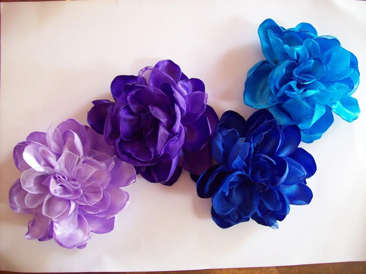 Flores de tela con pico o prendedor hechas a mano 49 - Flores de telas hechas a mano ...
