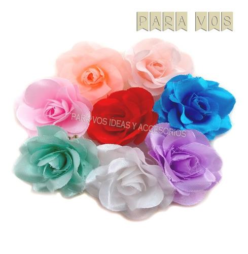 flores de tela decoracion souvenirs vinchas centros mesa x12