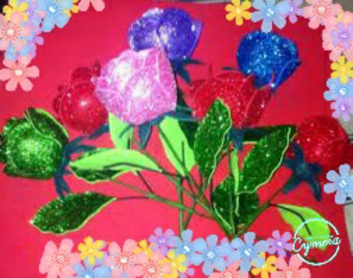 Flores con goma eva flores en goma eva x unidades como - Flor de goma eva ...