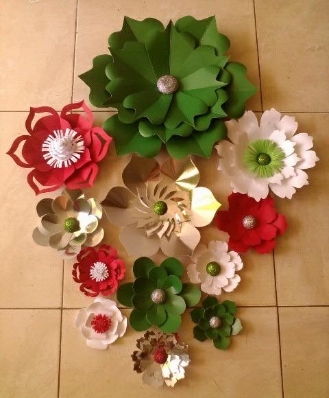 Flores En Papel Cartulina Combo De 9 Flores 60 000 En Mercado Libre