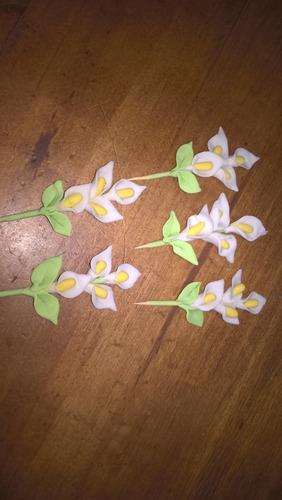 flores en porcelana fria calitas