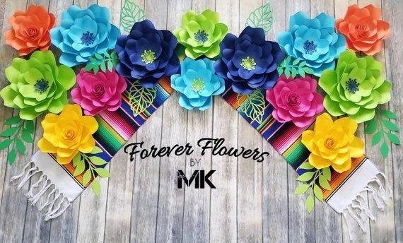 Flores Fiesta Decoración De La Boda Mexicana Coco