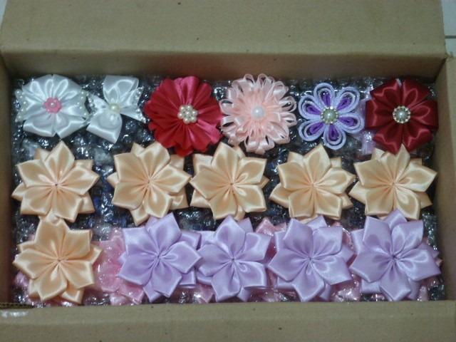 Armario Para Joyeria ~ Flores Fuxico Tecido Fita Artesanato Lembrancinha Kit 10un R$ 35,00 em Mercado Livre