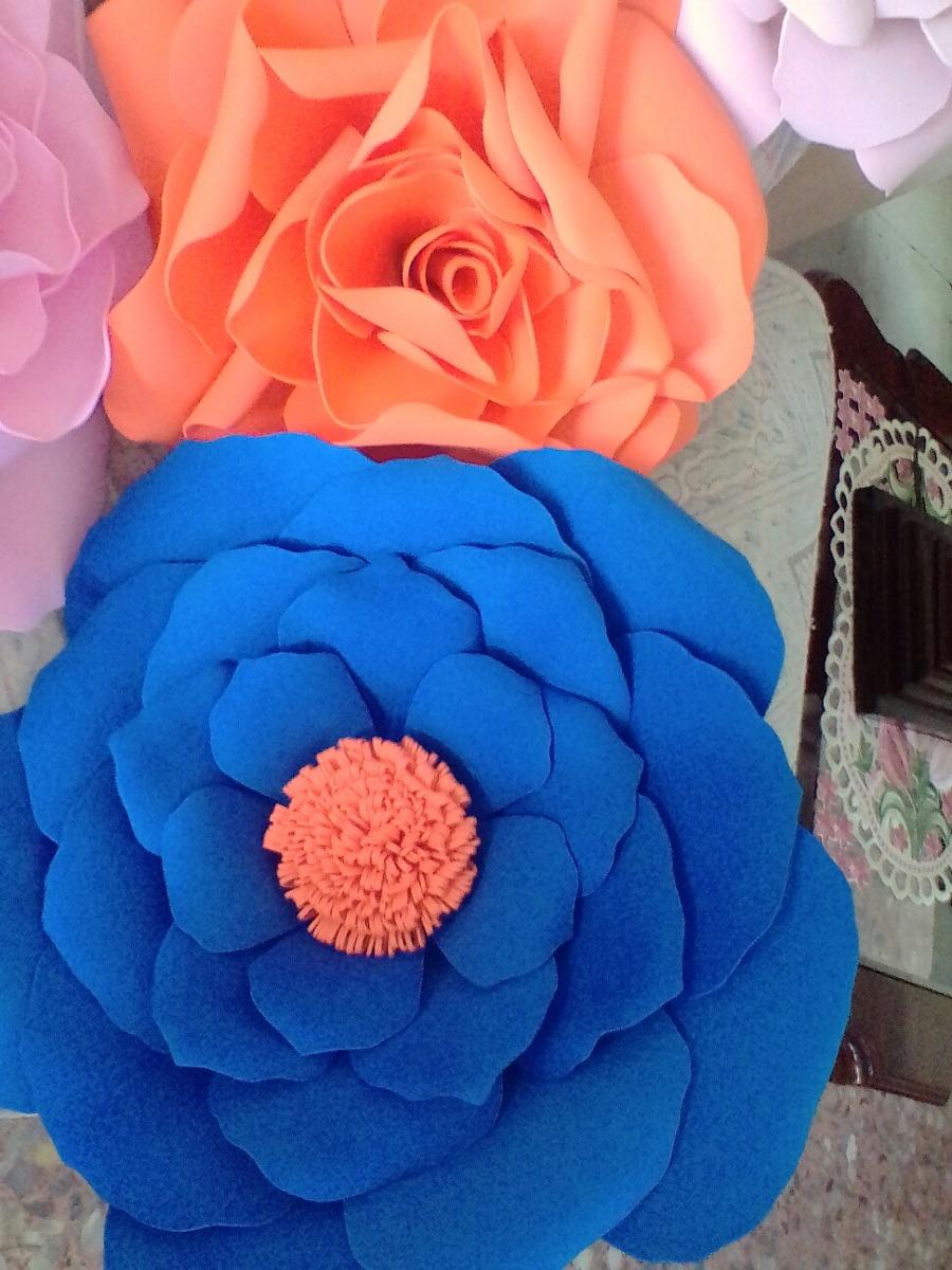 Flores Gigantes De Fomy Goma Eva Foami 55 00 En Mercado Libre