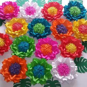Flores Gigantes De Papel. Decoracion Mexicana, Coco, Frida