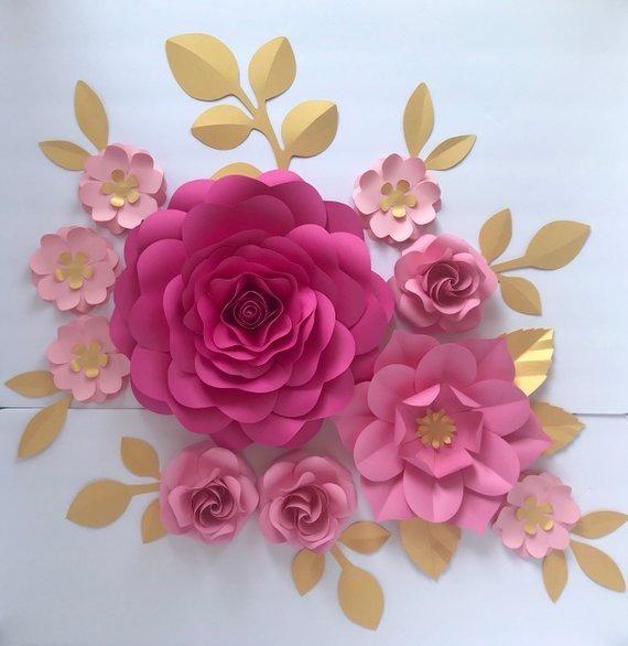 Flores Gigantes De Papel Las Mas Lindas Decoracion Eventos 99