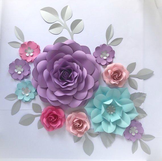 Flores Gigantes De Papel Las Más Lindas Decoracion Eventos