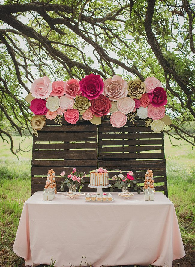 Rustic Baby Girl Shower Decorations