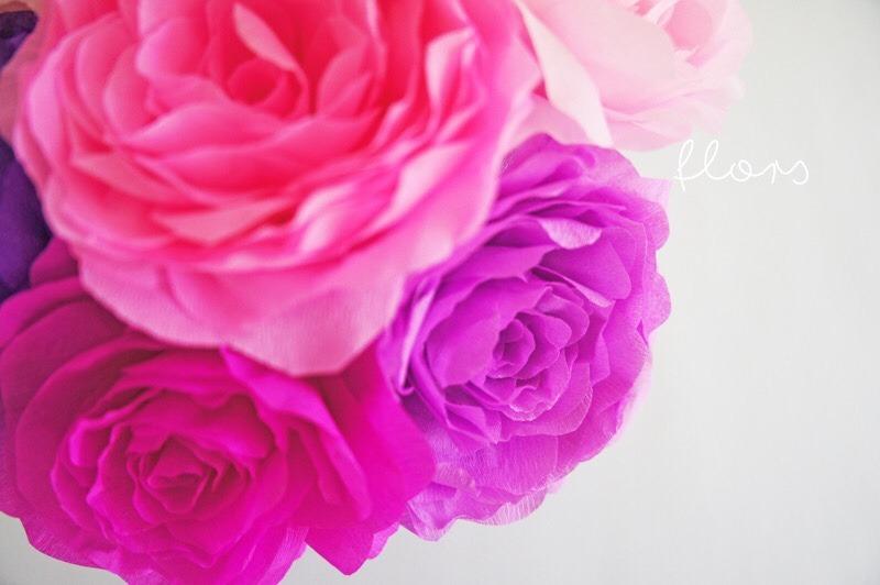 Flores Gigantes En Papel Crepe Eventos Fiestas 29 99 En