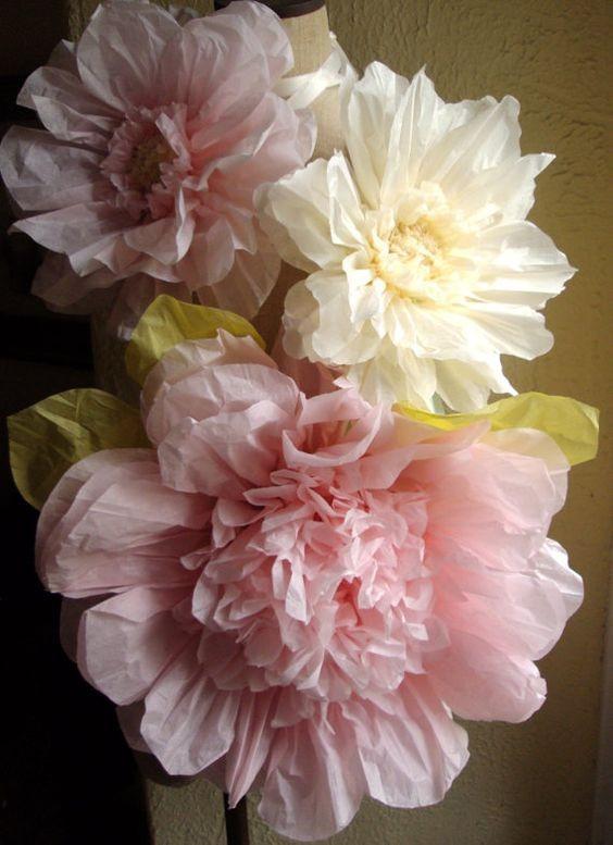 Свадебное оформление бумажными цветами (50 фото) 89
