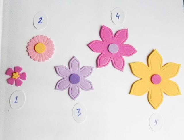 Flores goma eva aplicaciones formas manualidades 40 - Formas goma eva ...