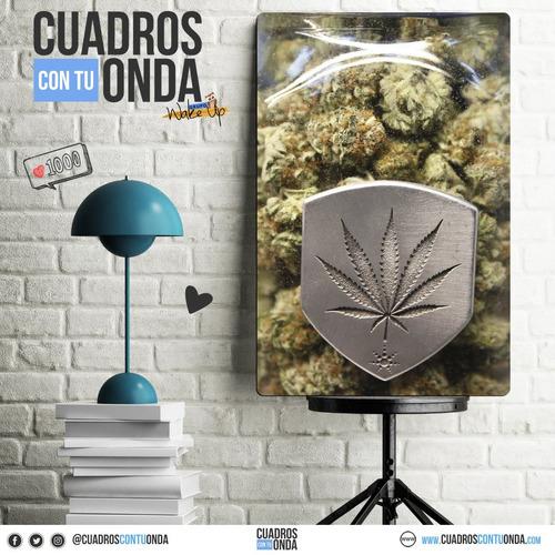 flores -  marihuana - cuadro l - rosario - modernos