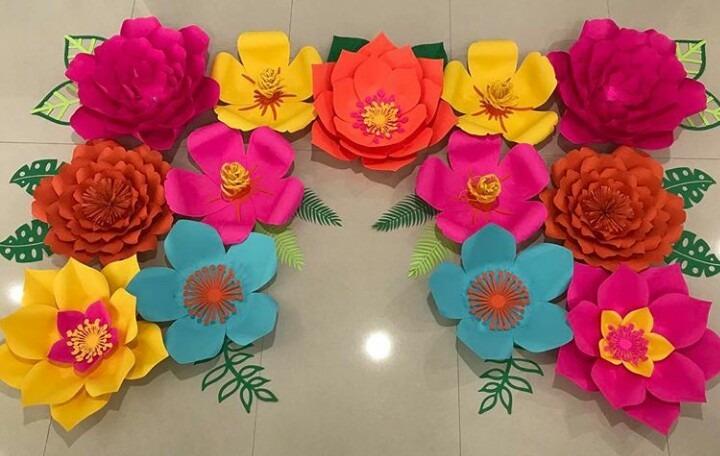 Flores Pequenas De Papel Para Decoracion Bodas Fiesta 15anos
