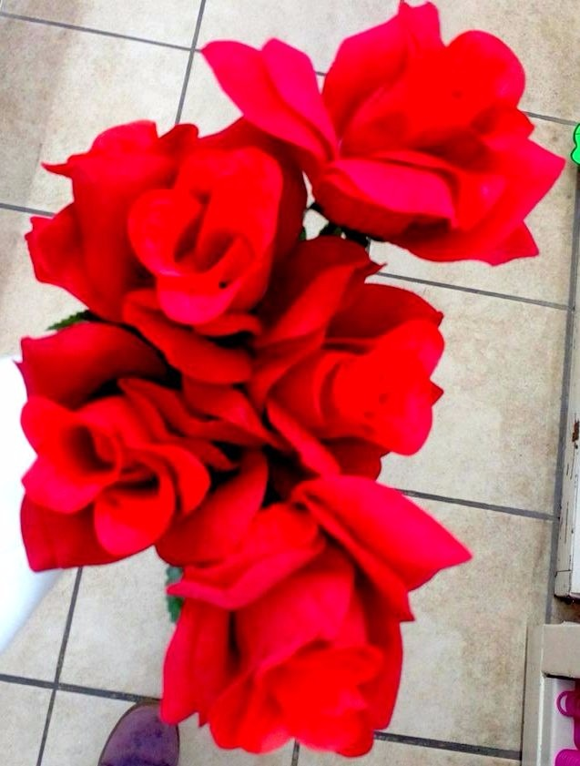 Flores Rosas Rojas Artificiales Ramo C5 Flores 24900 En
