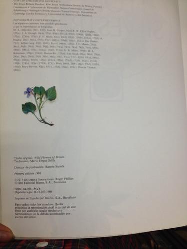 flores silvestres. roger phillips. flores
