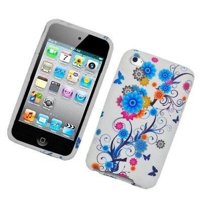 flores snap-in caso de tapa dura para apple ipod touch 4 º g