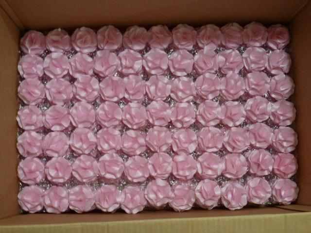 Artesanato Com Tecido De Chita ~ Flores Tecido 4cm Atacado Tiara Acessório 100un Frete Grátis R$ 135,00 em Mercado Livre