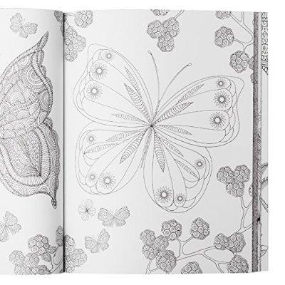 Flores Y Mariposas Mandala Libro De Colorante Para Adultos ...