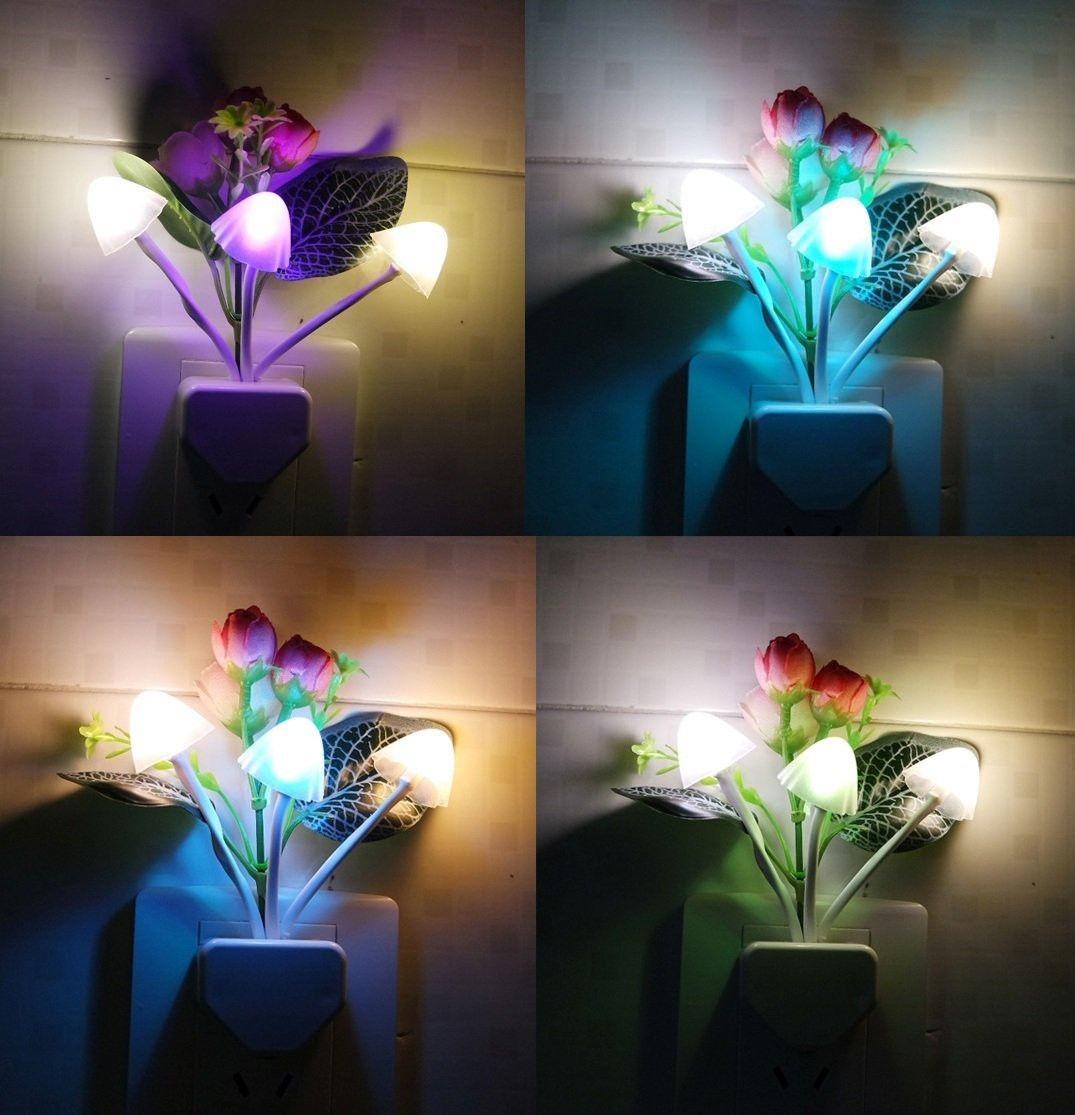 Flores Y Plantas Hermosa Sensor Controlan Luz Led Nocturna