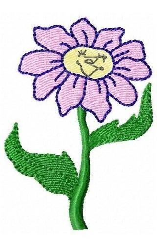florzinha sorriso - coleção de matriz de bordado