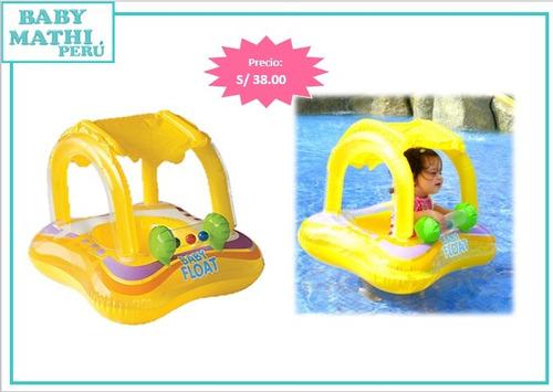 flotador bebé con techo para bebés - piscina