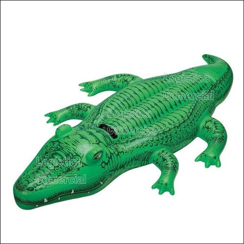 flotador cocodrilo gigante niños intex 58546