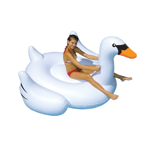 flotador con forma de cisne gigante de piscina mar de 190cm