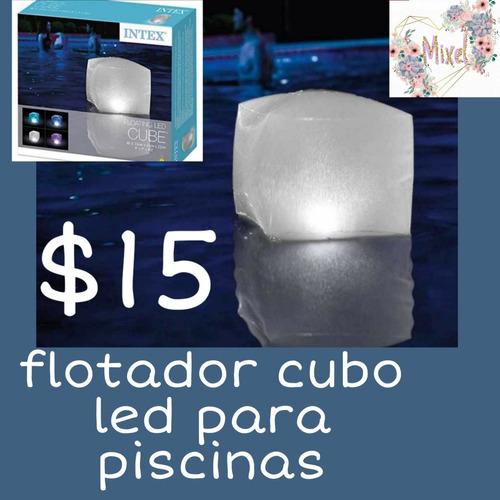 flotador cubo led