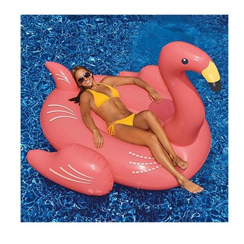 flotador de flamenco para piscinas bronceo al mejor estilo