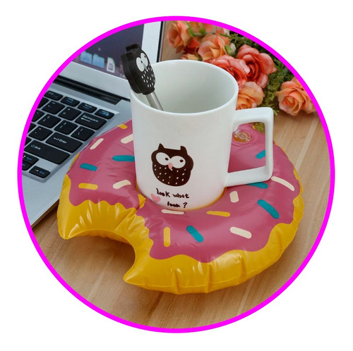 flotador donut portavasos pool party piscina