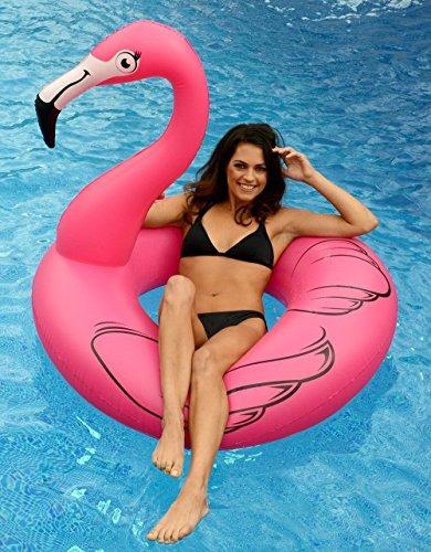 flotador gigante de la piscina del flamenco rosado del