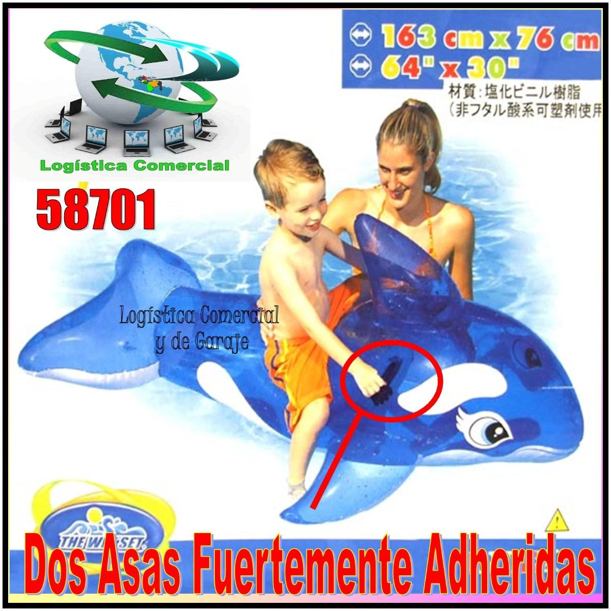 Flotador inflable ballena transparente ni os piscina 58523 for Piscina inflable ninos