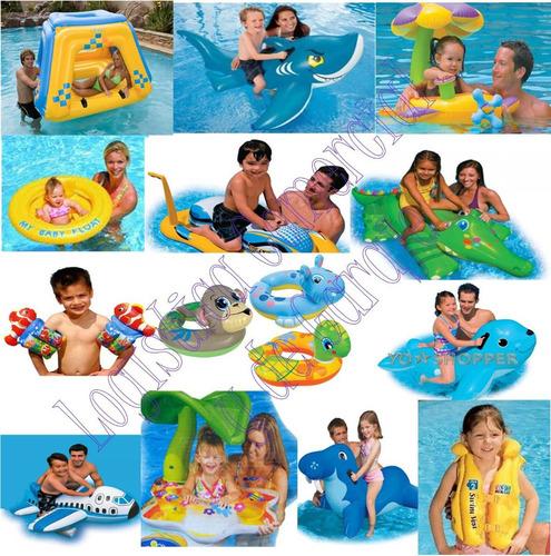 flotador inflable foca para niños piscina playa 56554 intex