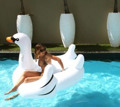 flotador inflable  gigante de cisne