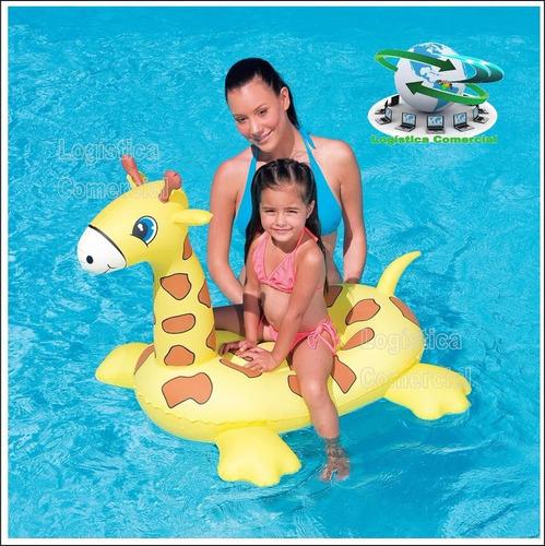 flotador inflable jirafa 109cm x 71cm x 79cm 41082 niños