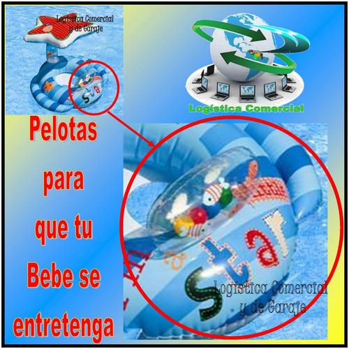 flotador inflable para bebe con parasol estrella intex 56582