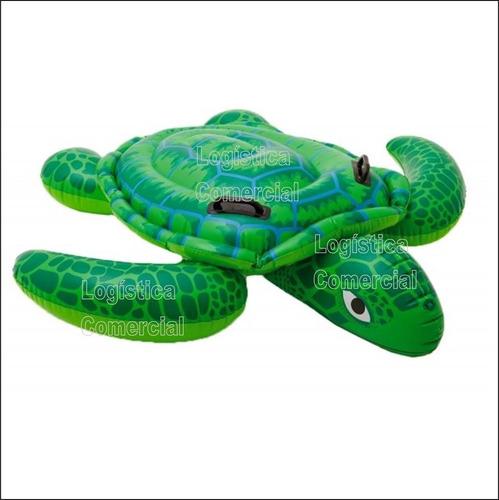 flotador inflable tortuga gigante niños intex 56524